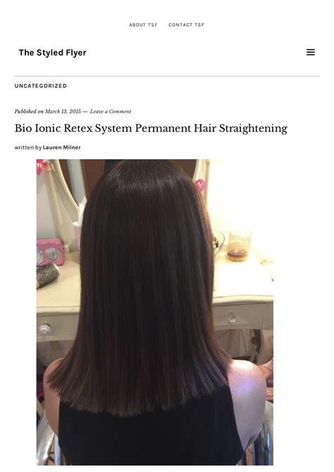 best chemical hair straighteners 2015 retex system permanent hair straightening published in