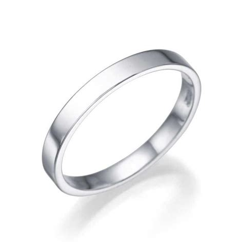 Wedding Ring Flat Design by S Platinum Wedding Ring 2 5mm Flat Design By Shiree