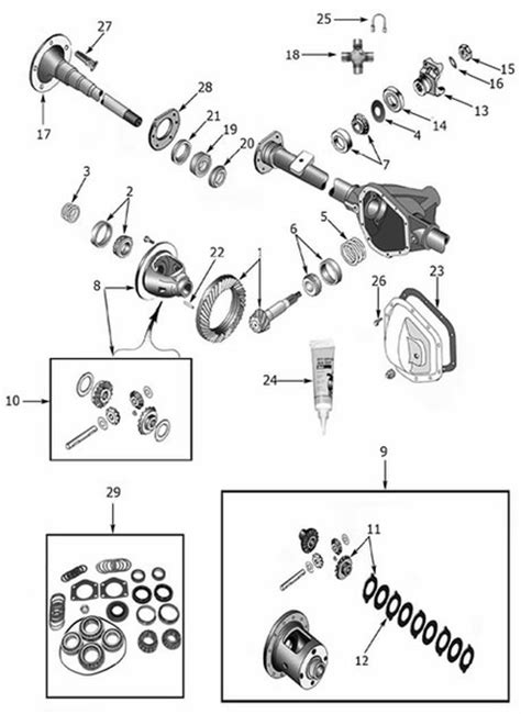 amc 20 axle diagram rear axle 44 flanged axles 1970 75 cj 1986 cj7