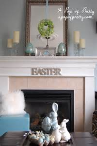 easter mantel ideas a pop of pretty blog canadian home decorating blog st john s canada