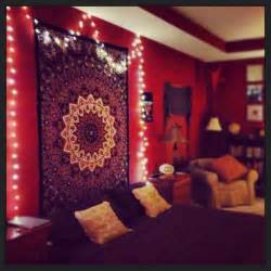 Tapestry For Bedroom My Hippy Room Complete With Records And Twinkle Lights