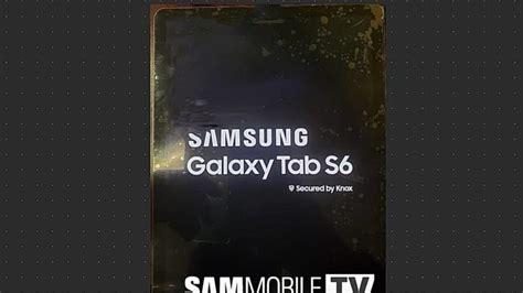 samsung galaxy tab s6 la nouvelle tablette de samsung aura un capteur photo