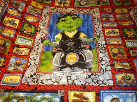 Cool Quilts For Sale Biker Bugz Panel Quilt Fabric Cool Motorcycle