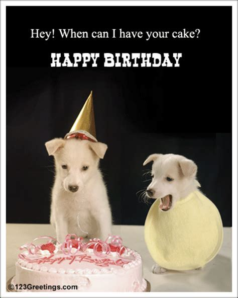 Greedy For Birthday Cake! Free For Best Friends eCards