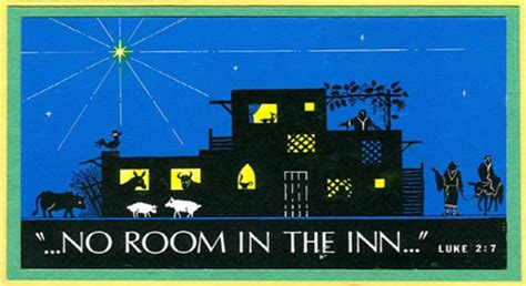 there is no room at the inn in the beginning