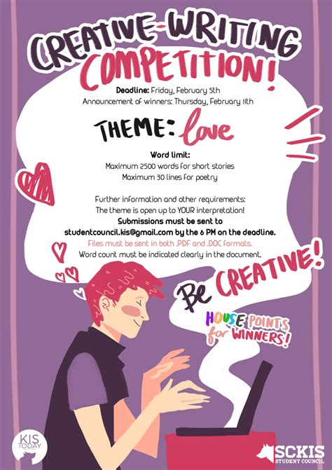 themes for story writing competition love a kis today writing competition kis today