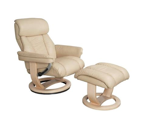 Veronica Cream Genuine Leather Swivel Chair And Foot Stool Real Leather Swivel Recliner Chairs