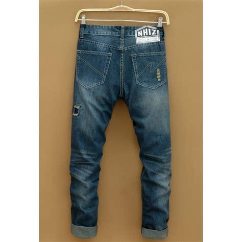 Celana Pendek Korea Pria Casual Garis jual celana pria model robek