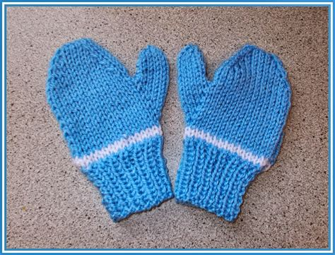 knitted mittens on 2 needles marianna s lazy days easy 2 needle toddler and