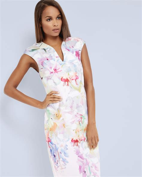 Dress Baby 02 Bunga Pink lyst ted baker hanging gardens bodycon dress