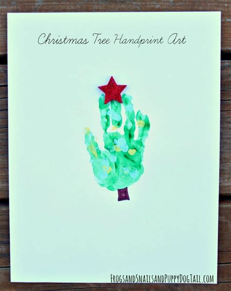 christmas tree handprint art fspdt