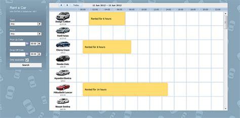 car application car rental application in asp net mvc3 razor scheduler docs
