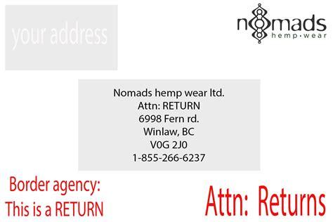 delivery returns shipping returns nomads hemp wear