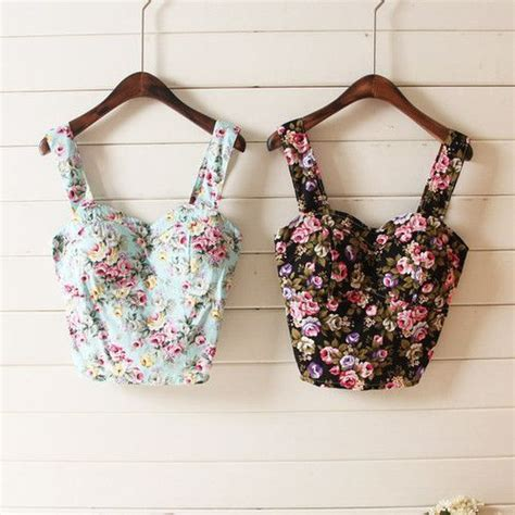 best vintage floral crop tops pictures photos and images for