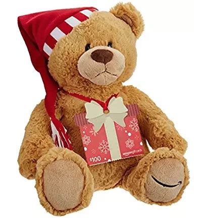 Amazon Canada Gift Card - amazon canada deals free holiday teddy bear with a 100 gift card purchase hot