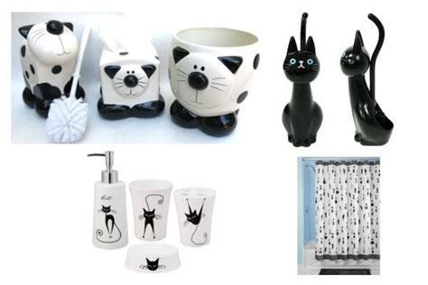 cat bathroom set black and white cat accessories to brighten up your