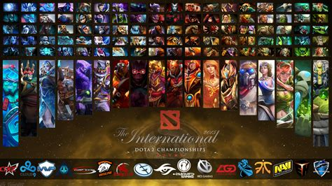 wallpaper dota 2 team the international 2015 heroes and teams dota 2 wallpapers
