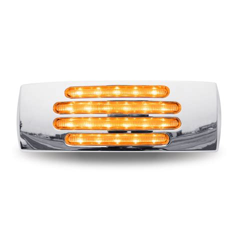 clear led trailer lights 2 quot x 6 quot clear marker led trailer light 22 diodes