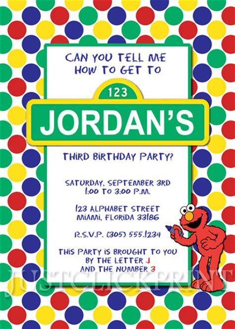 printable birthday invitations sesame street sesame street elmo birthday invitation printable 183 just