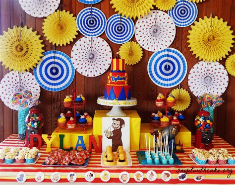 Curious George Decorations by Curious George Cake Ideas And Designs