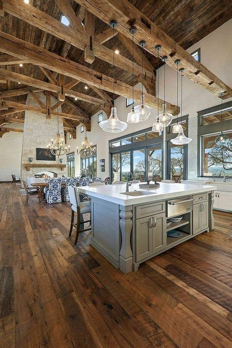 reclaimed beams rafters joints trusses kitchen  great