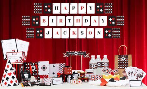 Backyard Birthday Party Invitations Casino Theme Party Decorations Ideas