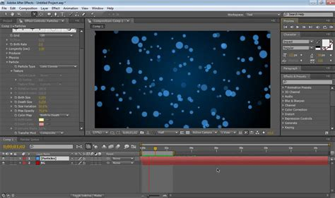 tutorial after effect particle how to make a field of particles inside of after effects