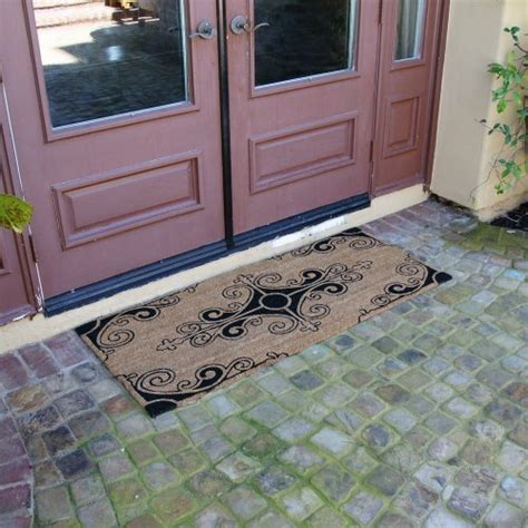 Large Front Door Mat Rubber Cal Quot Traditional Fleur De Lis Mat Quot Large Front Door Mat 24 By 57 Inch Home Garden