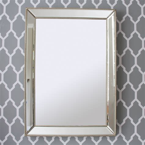 beaded mirror silver beaded chagne silver mirror