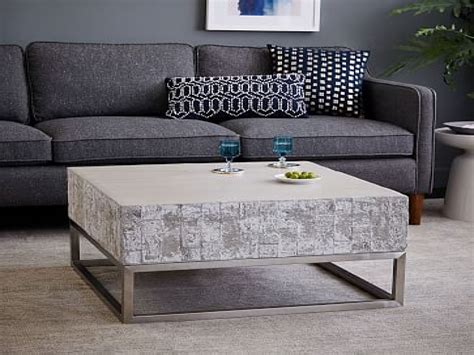 chrome and wood coffee table pottery barn room planner wood and chrome coffee