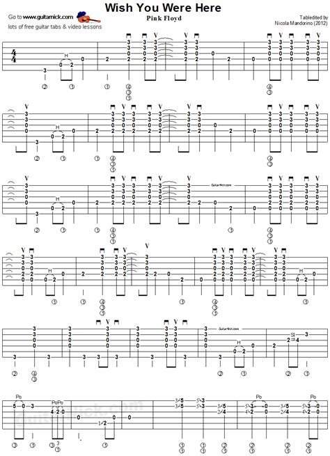 best of you guitar tab wish you were here guitar tab 1