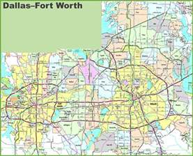 fort worth on map dallas and fort worth map