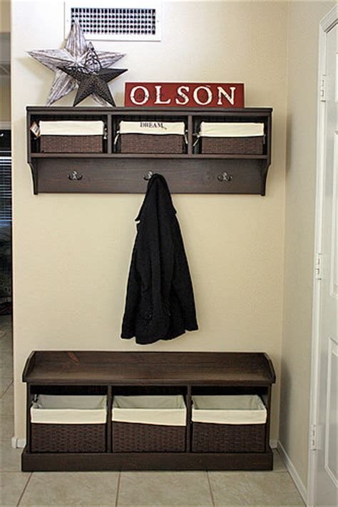 diy entryway bench projects decorating  small space