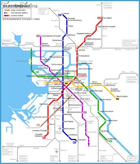 st map st petersburg metro map travelsfinders