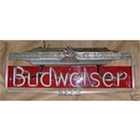 what were beer neon colors in the 50s and 60s vintage budweiser neon light sign circa 1950 s