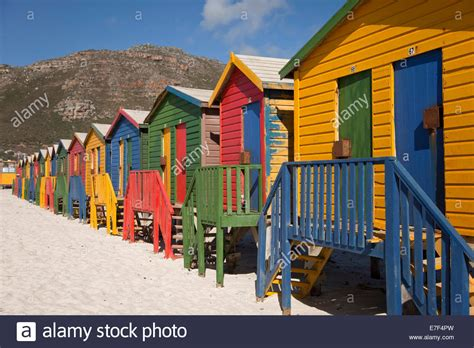 houses to buy in cape town colourful beach houses in muizenberg cape town western cape south stock photo