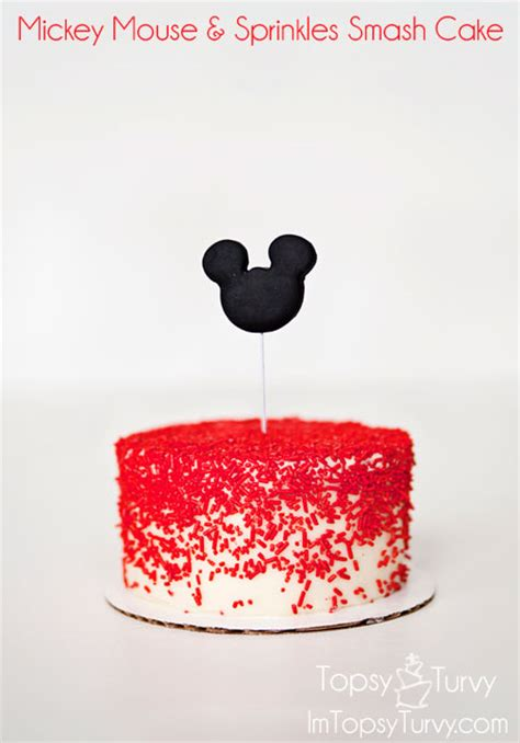 Minnie Mouse Diy Decorations Mickey Mouse Amp Sprinkles Smash Cake Ashlee Marie
