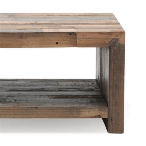 buy industrial small coffee table recycled plank living