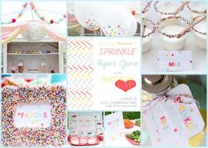 sprinkle baby shower ideas decorations
