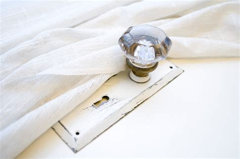 door knob curtain tie back vintage crystal door knob curtain tie back