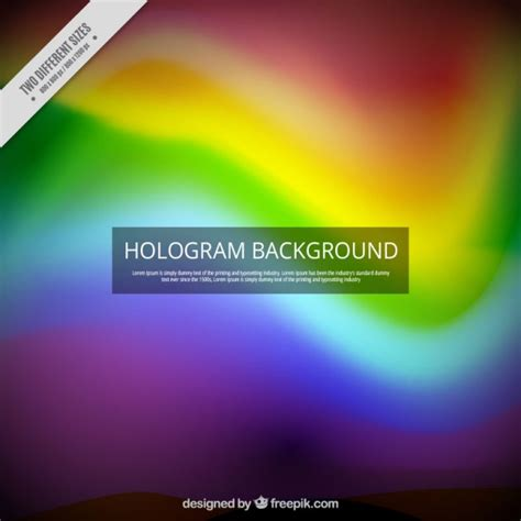 hologram colors hologram background in rainbow colors vector free