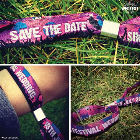 Wedding Festival by Save The Date Festival Wedding Wristbands Wedfest
