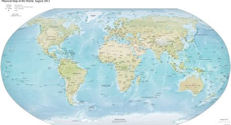 mapa del mundo fisico mapa del mundo