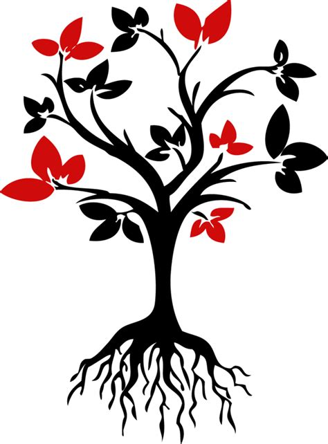 root art design zoetermeer tree with branches and roots clipart best