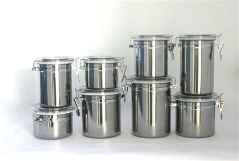 stainless steel canisters kitchen kitchen canisters stainless steel designcorner