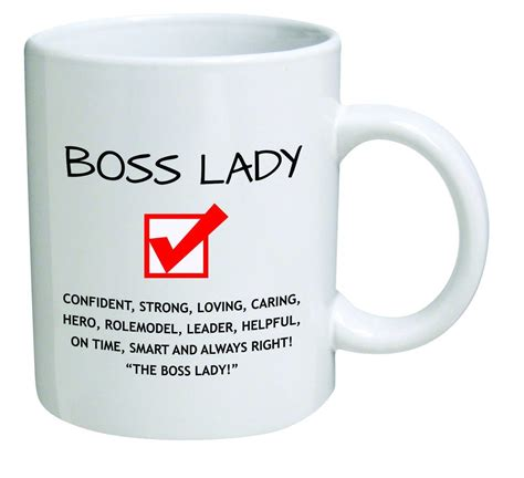 funny coffee mugs and mugs with quotes: Funny Boss Lady 11OZ Coffee Mug Novelty, Office, Job