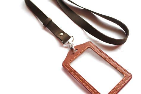 leather badge holder lanyard leather lanyard id badge lanyard with badge holder id badge