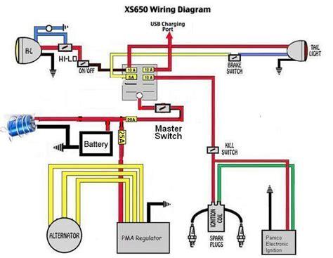 xs650 chopper wiring diagram points xs650 get free image