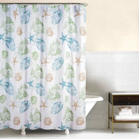 cer shell curtains reef point shower curtain by c f enterprises