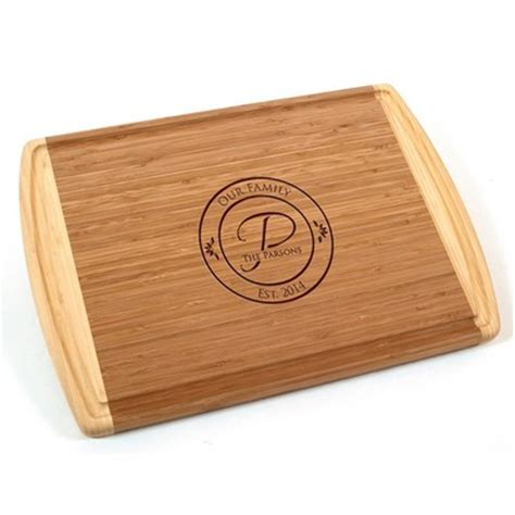 family name personalized bamboo cutting board family name personalized bamboo cutting board